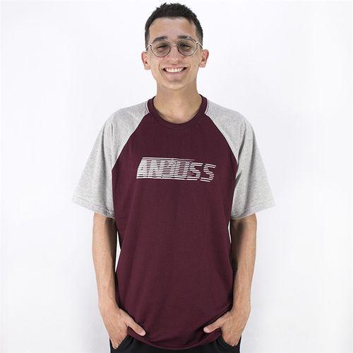Camiseta com Estampa Masculina Anjuss BORDO/MESCLA P